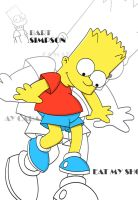 Bart Simpson O_o by 3ls1ta