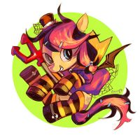 !!Halloween!!--- Halloween Theme Pony Commission! by amy30535