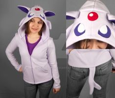 Espeon Hoodie by SewDesuNe