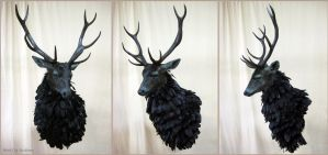 The Ravenstag (1) by WeirdCityTaxidermy