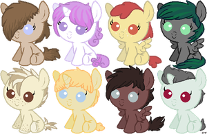 Baby Pony Adopts Batch 1 by Spiritedflight