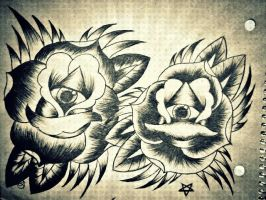 Seeing eye roses by jessicore666