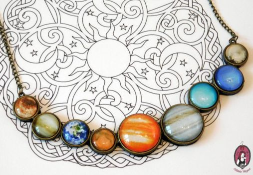 Solar System Statement necklace by BlitheMagic