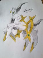 The God of the Pokemon World- Arceus (Coloured ) by Yuma76