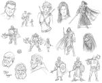 Fantasy Thumbnail Sketches by staino