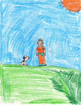 Snoopy and Krillin by evillizard91