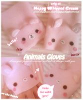 Animals Gloves by Cloty-chan