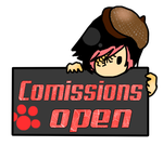 Comissions Open Stamp by LonelyBoyLuis
