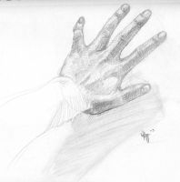 my gibbled hand... by oshimagun