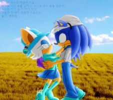 Sonic and Rouge 3 by SubrosaEnigma