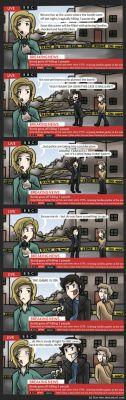 Sherlock can't resist a crime scene by Star-Jem