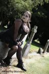 Goth on a grave by bymatess