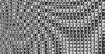 black and white distorted pattern by KirstenStar
