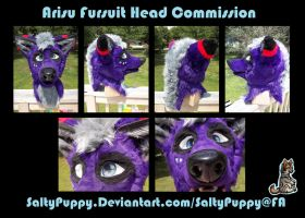 Arisu Fursuit Head Commission by SaltyPuppy
