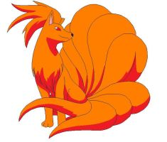 Fire Ninetails Adoptable by PhoenixRavyn