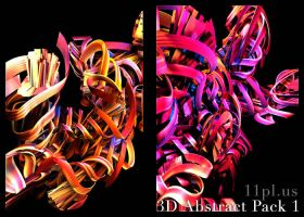 3d Abstract Render Pack 1 by 11plus