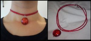 oriental-inspired choker by something-i-am-not