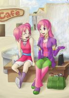 Celina and Cecelia - Day Out by arcblasterblitz