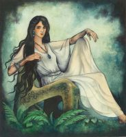 Luthien Sitting by ebe-kastein