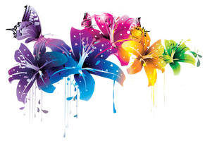 ++ Colorful Flower Vector Clipart PNG by BrielleFantasy