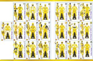 Power Rangers SUPER Megaforce Keys - Yellow by LavenderRanger