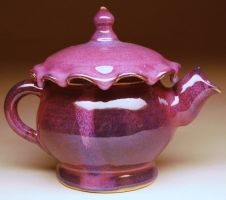 Purple Drip Teapot by de-profundis-clamavi
