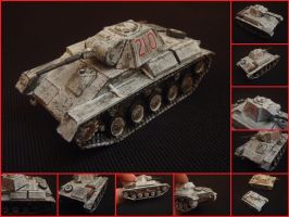 T-70 light tank by WormWoodTheStar