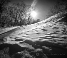Ripples in the snow by Locopelli