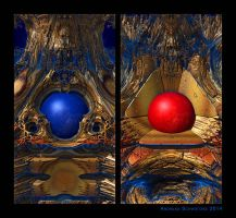 Two trapped spheres by arteandreas