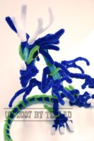 Pipe cleaner blue dragon by teblad