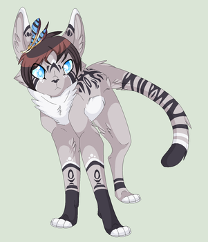 Going in blind Jayfeather by JSnowpaw