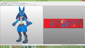 lucario papercraft finished by javierini