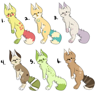 Adoptables (3 LEFT!!) by Schuffles