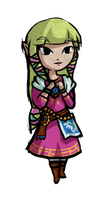 Skyward Sword Zelda Tooned by Hikolol35