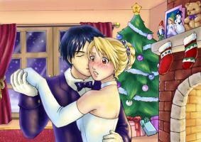 FMA - Roy and Riza Xmas by Kiraneko