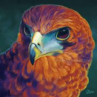 Vibrant Feathers - SpeedPaint by GoldenDruid