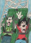 Goofy and Max on California Screamin' by TheDisneyGoof