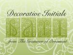Decorative Initials Vectors by remittancegirl
