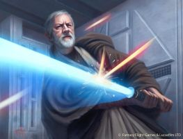 Star Wars: TCG - Soresu Training by AnthonyFoti