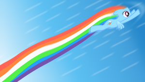 Rainboom Wallpaper by verywrony