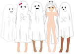 Spooky scary ghosts by CoolBases