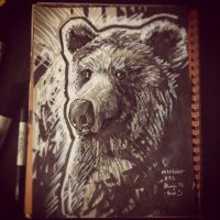 Inktober: Bear by Rhunyc