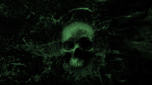 Splashing Skull 3.0 - Wallpaper (green) by WisdomX