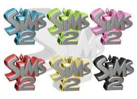 Multi-Colored Sims2 Icons by C-Volume