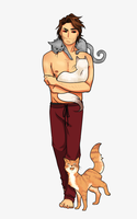 Remy Lebeau and Cats! by Killyhawk