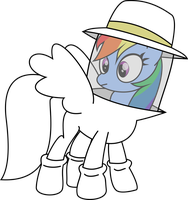Rainbow Dash the Beekeeper by knoeki