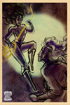 30DDDC Day 11/5: Wonderwoman Vs. Rogue by psychosako