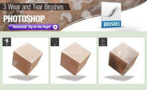 3 Photoshop Brushes for Painting Wear and Tear by pixelstains