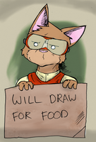 Will Draw For Food Avatar by JohananP
