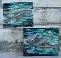 Flying Fish pair by shmeeden